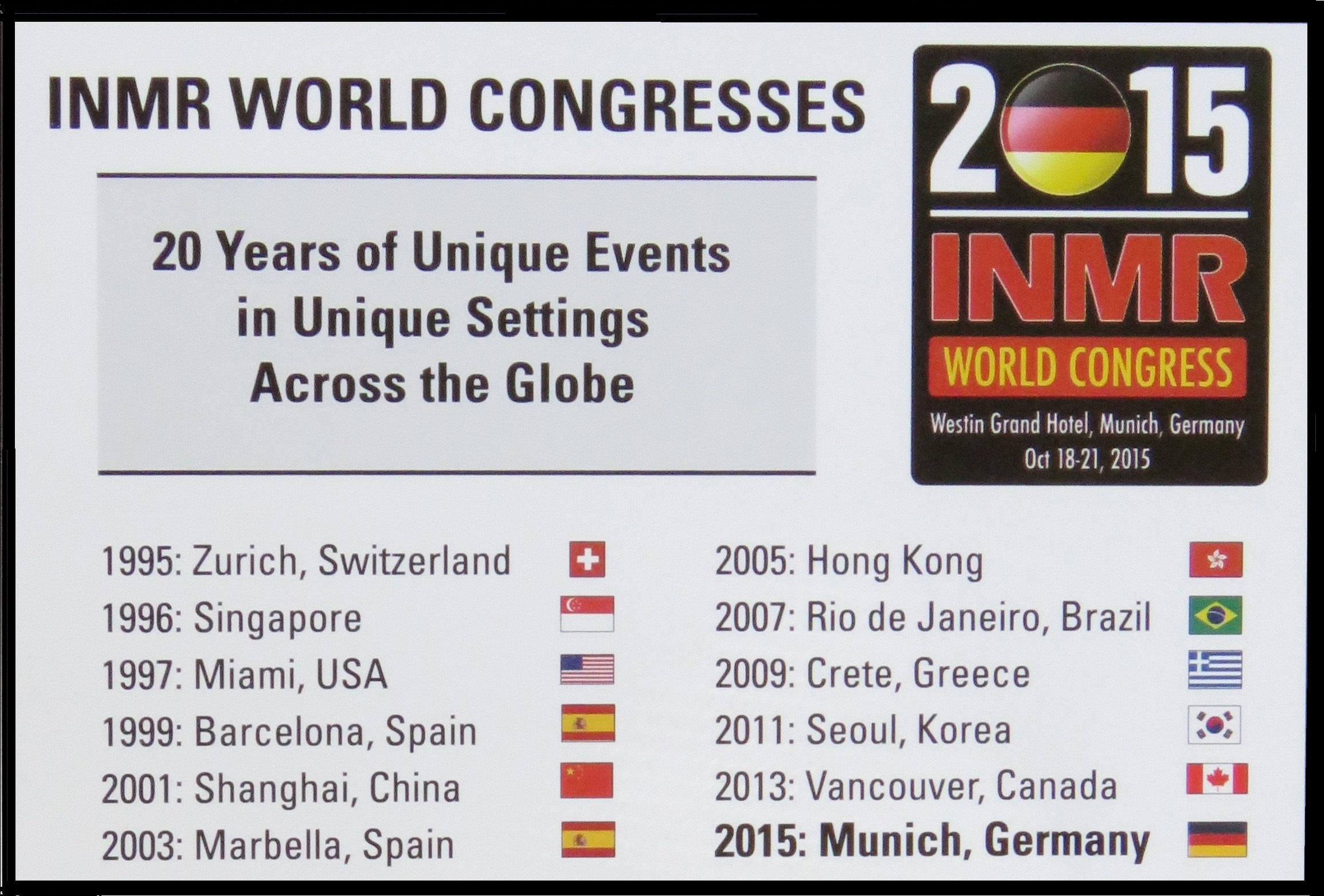 INMRWorldCongress2015